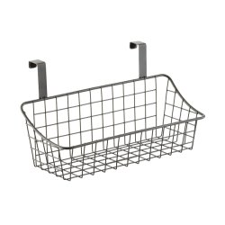 Enduit la pendaison de Wire Mesh Storage paniers pour présentoir/Gridwall/Slatwall