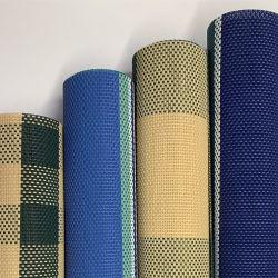 UV-beständig Export Pakistan Wasserdicht Textil Gewebe PVC-beschichtetes Polyester Mesh Tarpaulin Zelt Stuhl Sonnenbetten Taschen Stoff Vorrat Menge für Gartenmöbel