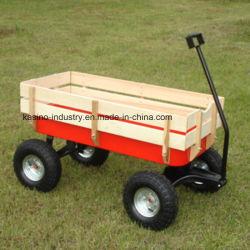 Los niños del jardín de alta calidad, de vagones de madera para bebé carro de remolque (CT1801)