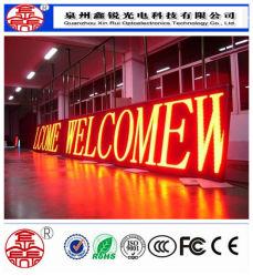 Для использования вне помещений P10-красный цвет светодиодного дисплея (P10 4S)