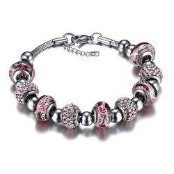 Cordão de cristal violeta Bracelete Colar para venda no conjunto de jóias