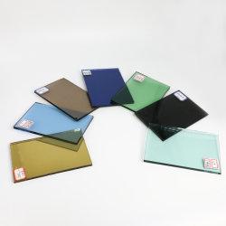 Vetro galleggiante rivestito trasparente, rosa, verde, blu, bronzo, 4-8 mm Grigio, dorato