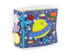 Ruhiges Kleinkind-Ausbildungs-Buch, Filz-Weihnachtswand-hängendes Gewebe-besetztes Buch, Kind-pädagogische Wand-Diagramme