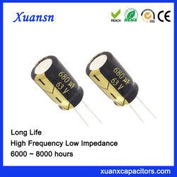 Оптовые цены на электролитический конденсатор 680ОФ63V для внутреннего освещения