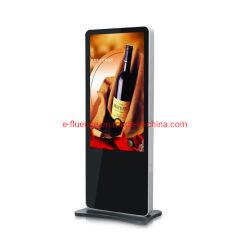 Heetste 43-inch LCD-scherm met smalle rand voor binnen, verticale standaard, digitaal display, LCD-reclamedisplay, digitale bewegwijzering met camera