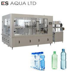 Línea de producción de planta de agua mineral pequeña botella 5L Botella de 10L lavado llenando el etiquetado de limitación de empaquetadora