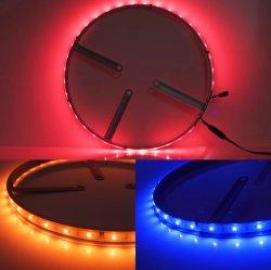 """5050 SMD LED multicolor lâmpada LED personalizados luz carro 15"""" Rodas cor das luzes de freio perseguindo Sync Vire Sync via Bluetooth Controller"""
