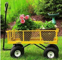 Carrello conveniente dello strumento del giardino resistente della rotella di buona qualità 4/automobile esterna del giardino di verde del giardino