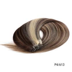 آلة رميعة الشعر البشرية المزدوجة صنعت الشعر Weft/Weiting/الستائر