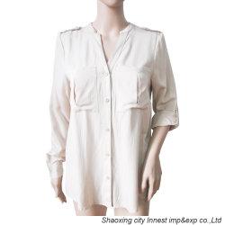 女性のための方法衣類の箱ポケットの調節可能な袖の偶然のブラウス