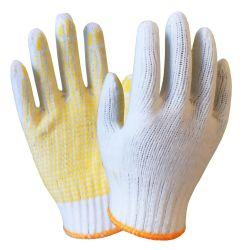 Gants de travail de la sécurité tricotés avec points de PVC antidérapante