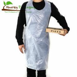 Белый полиэтилена HDPE LDPE Одноразовые пластиковые защитные фартуки со сложенными мешок на рулоне
