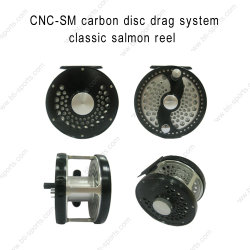 Disco de carbono de Servicio al Cliente Sistema de arrastre de carrete de Pesca con Mosca de salmón clásico 02A-CNC-SM