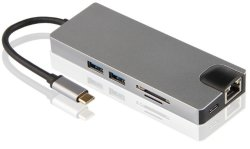 Type C naar HDMI Ethernet 2*USB 3.0 Type C (DP) RJ45 TF SD VGA