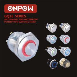Onpow 누름단추식 전쟁 스위치 (GQ16 시리즈, CCC 의 세륨, RoHS)