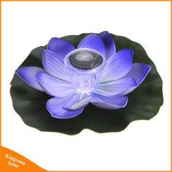 Цветок лотоса светодиодный индикатор на солнечной энергии для освещения с плавающей запятой сад бассейн декоративного освещения