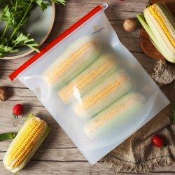 Commerce de gros frais de vide écologique réutilisables en silicone avec sac ziplock alimentaire