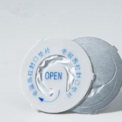 PEの泡のアルミホイルの誘導の帽子のシールライナを離れて容易皮をむきなさい