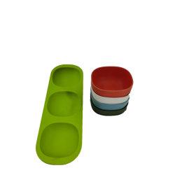 Фруктов бамбуковые волокна закуска чашу + Лоток сплошным цветом