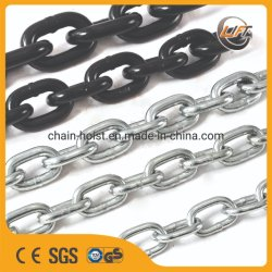 Il nero di sollevamento della catena d'ancoraggio della catena del metallo dell'acciaio legato della catena di convogliatore di sartiame del hardware della catena a maglia della Catena 6mm-22mm del blocco Chain G80 e prezzo di fabbrica galvanizzato