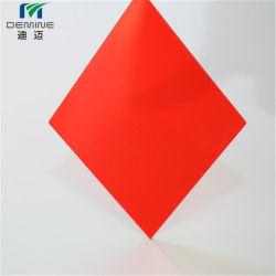 Folha de policarbonato de cor vermelha para Caixa de Publicidade