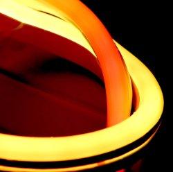 RGB dinámico de silicio en el exterior de la extrusión flexible resistente al agua iluminación LED Neon Flex Strip