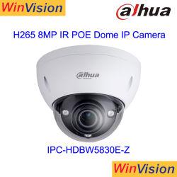 Dahua 8MP caméra dôme IP Poe 4K HD infrarouge Mini de vidéo surveillance CCTV de sécurité anti-vandale Jour et Nuit Ipc-Hdbw5830E-Z Carte SD