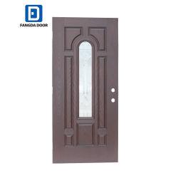 Puertas Fangda Inswing izquierdo listo para pintar la fibra de vidrio aislante con la puerta de entrada Prehung Core