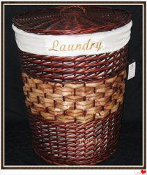 Armazenamento de vime Madeira de salgueiro de vime cestas de Lavandaria