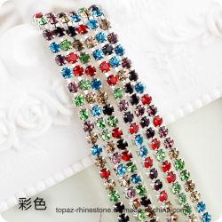 2019의 새로운 품목 컵 사슬 Strass 롤 (TCG 착색되는) 의류를 위한 수정같은 트리밍 모조 다이아몬드