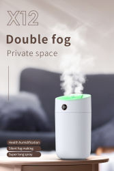 humidificador ultrassónico Grande Tamanho Grande humidificador 3000ml 3L Humidificador Bico Duplo Mist Maker Fogger Cool Mist Humidificador Cogumelo difusor de aroma humidificador de Ar