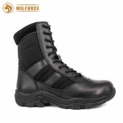 Мужчин Cowhide черного цвета кожи военных ботинок профессиональной армии загружается