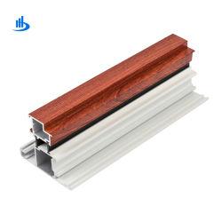 La striscia di alluminio della sezione dei portelli della rottura della lega termica dell'espulsione 6063/T5, Windows di alluminio profila il racking nel rivestimento di legno polvere/del grano
