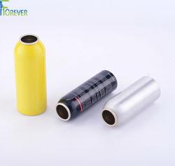 China proveedor 20-1000ml Spray cosméticos Botella de aluminio de latas de aerosol con accesorios