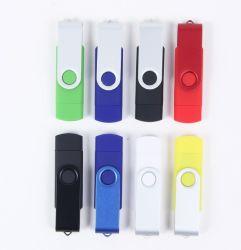 De kleurrijke Schijf van het Geheugen van de Aandrijving van de Flits van de Telefoon USB van de Draai OTG van de Wartel Mobiele