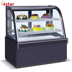 Для изготовителей оборудования на заводе системы охлаждения двигателя вентилятора изогнутой стеклянной дисплей кондитерский прилавок холодильник