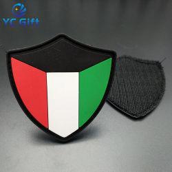 De Toebehoren die van het Kledingstuk van de Manier van de Politie van de Overdracht van de Hitte van de douane Pu het Rubber van pvc van het Etiket kleden hangen het Flard van de Sticker van de Markering voor de Gift van de Bevordering (PT18)
