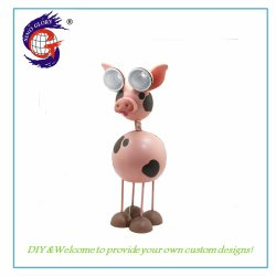 Holiday Solar Powered Landscape Lights Animal Pig Crafts Voor Indoor Decoratie