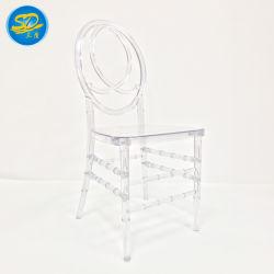 Usine de mariage de gros de la résine de l'événement/PC de l'Acrylique Crystal Chiavari Ghost chaise de salle à manger