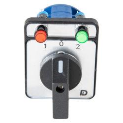 Contacteur Double-Throw avec ressort de retour au Centre, 2lampe, 3p