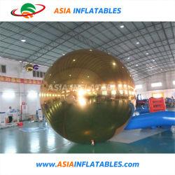 PVC Golden gonflable boule miroir parti d'or Ballon de rétroviseur