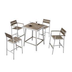 Сад открытый большой бар алюминий пластиковые деревянный стол и стул, бистро мебель