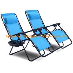 Goplus silla plegable de Gravedad Cero ajustable Salón sillones reclinables para patio patio al aire libre Piscina Playa W/Portavasos, 300 libras de peso (celeste)