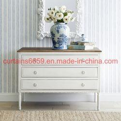 빈티지 전원풍 장식의 목재 가구, 화이트/블루 컬러 골동품 보관 서랍 캐비닛/가구/소파/테이블/의자 홈 가구