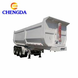 2 Eje 3 del eje Eje 4 en forma de U lado hidráulico Final 40 70 45 60 toneladas de metros cúbicos de capacidad de descarga de camiones Tractor volquete semi remolque