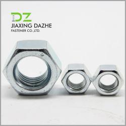 DIN934 Negro de acero al carbono de alta calidad la tuerca hexagonal galvanizado o negro