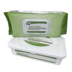 Sem álcool toalhetes adultos 64PCS limpeza biodegradável Puericultura tecidos toalhetes húmidos