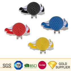 Commerce de gros de Design de mode de métal blanc Disque sèche Mini Brim Marqueur de Balle Clip magnétique personnalisée sur le golf Hat Clip Aucun minimum de commande