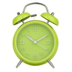 4 Twin Bell Verde Reloj Despertador, accionado por batería, ruidoso
