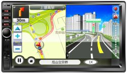 7 Auto Auido van de Auto van de Auto van de duim de AudioMP5 met USB FM Bluetooth Verre Androïde Aux en Ios de Link van de Spiegel
